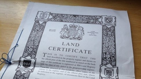 Land Registry documents