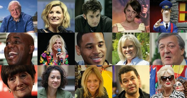 montage of BBC celebrities
