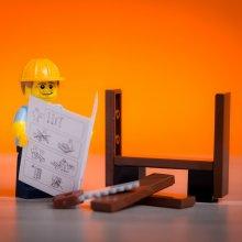 Lego man building