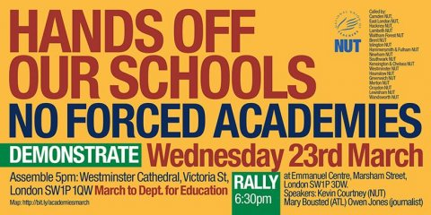 Hands off our schools: march today