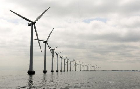 Photo of Middelgruden offshore wind farm in Denmark