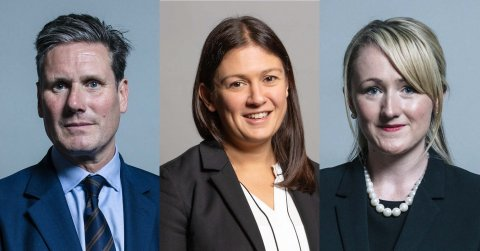 Labour leadership candidates Keir Starmer, Lisa Nandy and Rebecca Long-Bailey