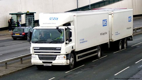 An NHS Supply Chain van