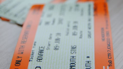 Photo of a train ticket