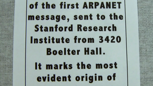 Photo of plaque commemorating the Arpanet