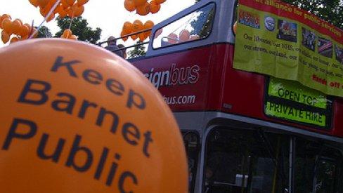 Keep Barnet public protest