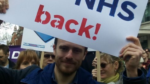 Photo of NHS demo