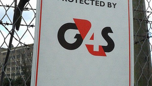 Photo of G4S sign on fence