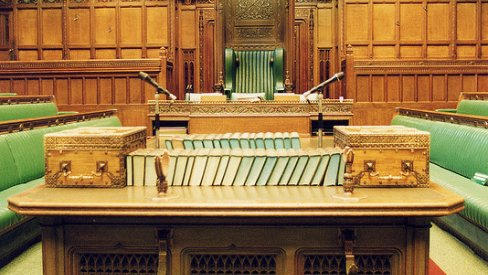 Photo of House of Commons Chamber: Speaker's table