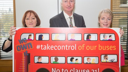 Shadow transport secretary Daniel Zeichner and Bristol MPs Karin Smyth and Kerry McCarthy