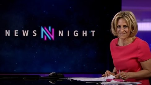 Emily Maitlis on BBC Newsnight