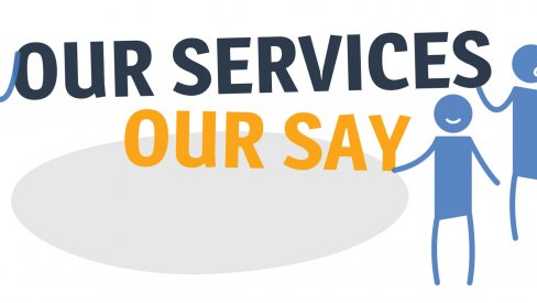 Our Services Our Say logo