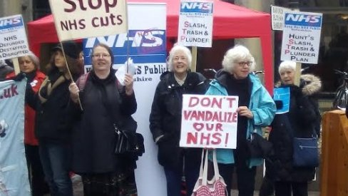 NHS protest outside County Hall