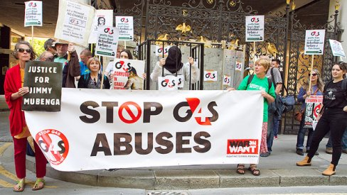 Photo of G4S protest in 2013