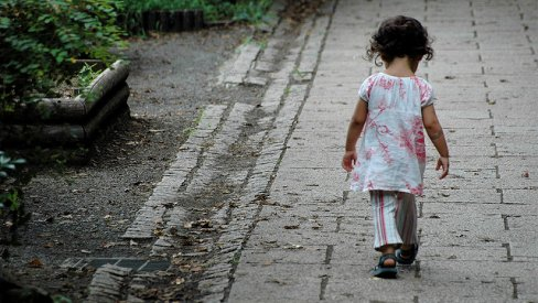 Photo of child walking